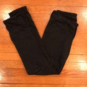Big Star Black Distressed Cigarette Jeans
